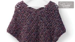 Crochet Snug as a Hug Poncho
