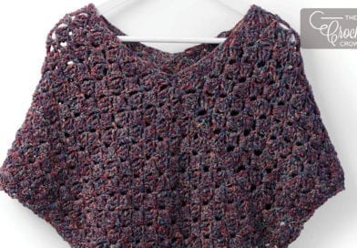 Crochet Snug As A Hug Poncho For Kids To Adult Sizes Tutorial