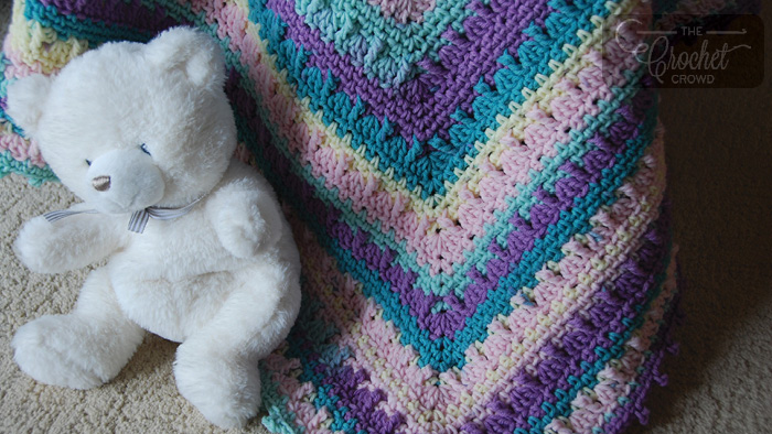Crochet Social Textures Baby Blanket by Jeanne Steinhilber