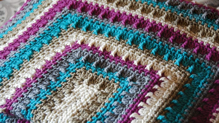 Crochet Social Textures Blanket by Jeanne Steinhilber