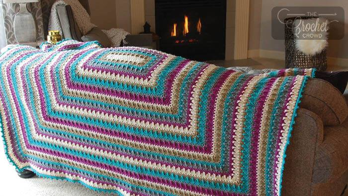 Crochet Social Textures Blanket by Jeanne Steinhilber