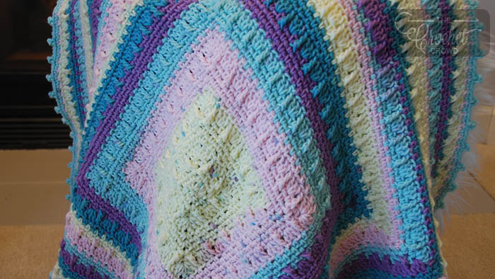 Crochet Social Textures Baby Blanket Tutorial The Crochet Crowd