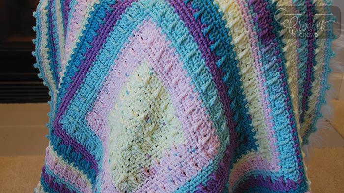 Crochet Social Textures Baby Blanket Pattern