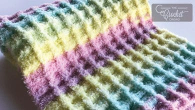 Crochet Baby Waffle Blanket