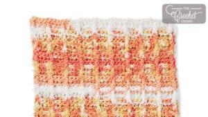 Crochet Scrubbing Waffle Dishcloth