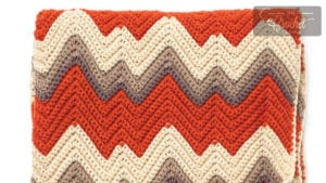 Crochet Mountain Range Blanket
