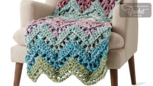 Crochet Peaks & Valleys Wave Blanket