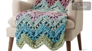 Crochet Peaks & Valleys Wave Blanket