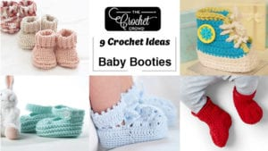 9 Crochet Baby Booties Ideas