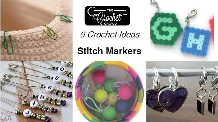 9 Crochet Stitch Marker Ideas