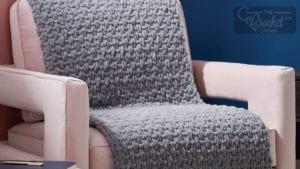 Knit Blanket EZ Seed Stitch Blanket