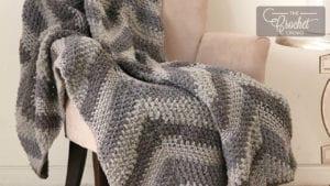 Chevron Panels Crochet Blanket