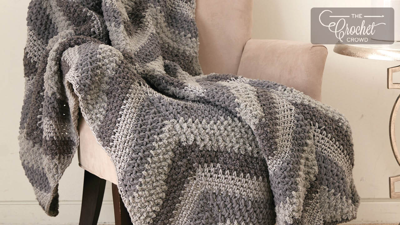 Crochet Chevron Panels Blanket Pattern