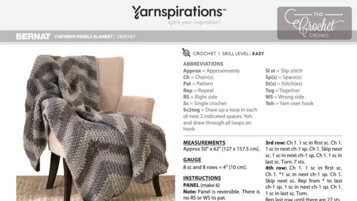 Crochet Chevron Panels Blanket