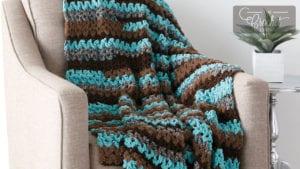 Crochet Easy Vee-sy Throw