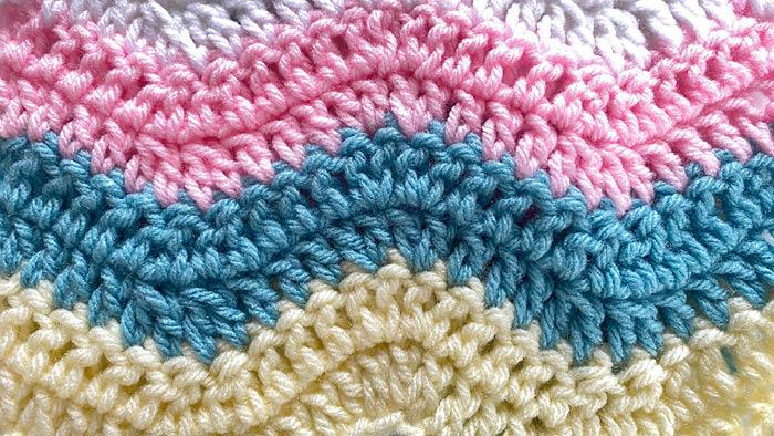 Crochet Lazy Wave Blanket Swatch