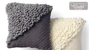 Crochet Loopy Corner to Corner Pillow