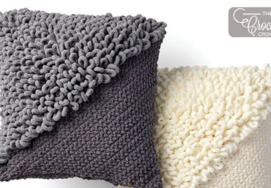 b76f0f186712a Crochet Loopy Corner Pillow + Tutorial Concept