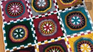Crochet Poker Chip Blanket