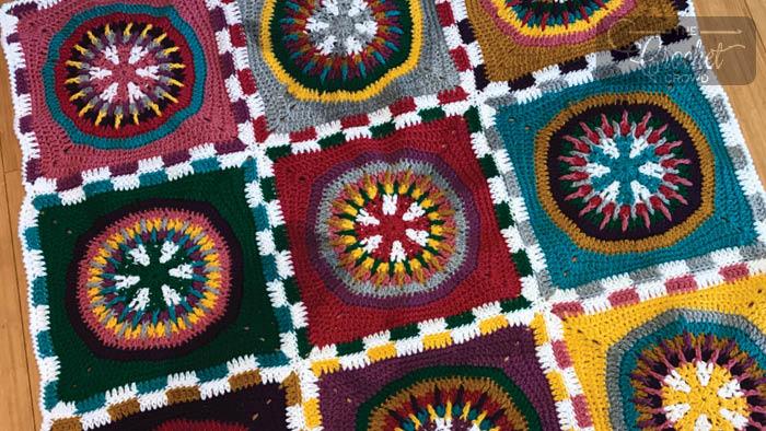 Crochet Poker Chip Blanket Pattern