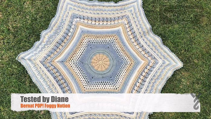 Crochet Study of Planet Earth Afghan - Tested by Diane