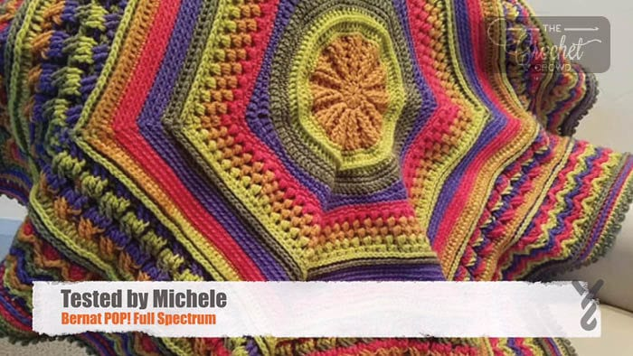 Crochet Study of Planet Earth Afghan - Tested by Michele