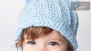 Crochet Baby Kitty Hat
