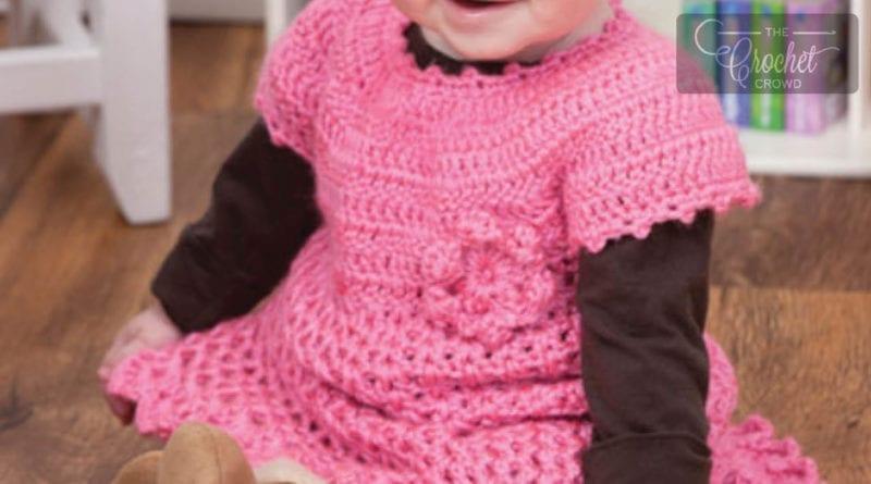 Crochet Little Sweetie Baby Dress Tutorial The Crochet Crowd
