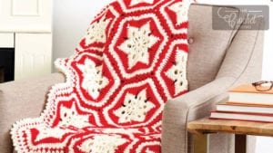 Crochet Scandinavian Christmas Blanket