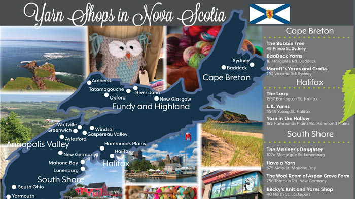 26 Yarn Shops in Nova Scotia + Map | The Crochet Crowd