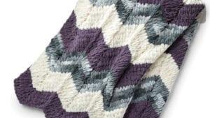 Knitting Bernat Blanket EZ Ripple Blanket