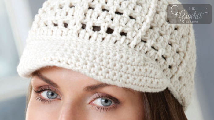 Crochet Denim Look Visor Cap Pattern