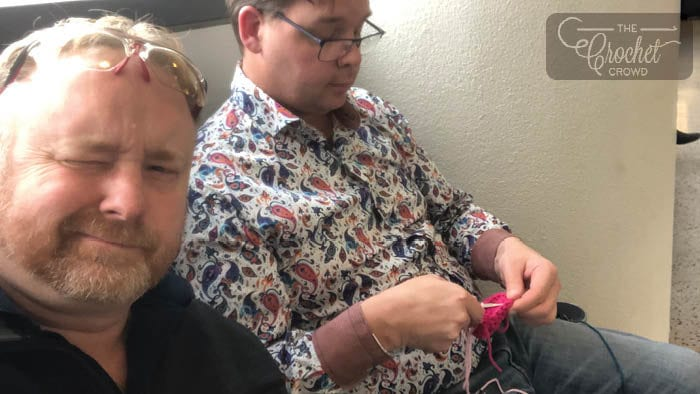 Crocheting at the Airport