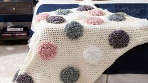 Crochet Loopsy Dots Blanket