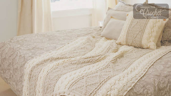 Crochet Soft Neutrals Cable Afghan Pattern + Tutorial