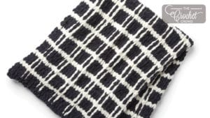 Knit Mad for Plaid Blanket