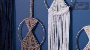 Prismatic Crochet Wall Hanging