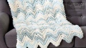 Crochet Raised Chevron Home Bundle Afghan