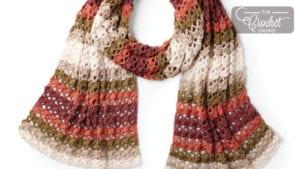 Striping Shells Crochet Shawl