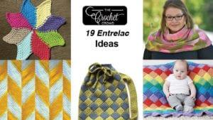 19 Entrelac Crochet Ideas