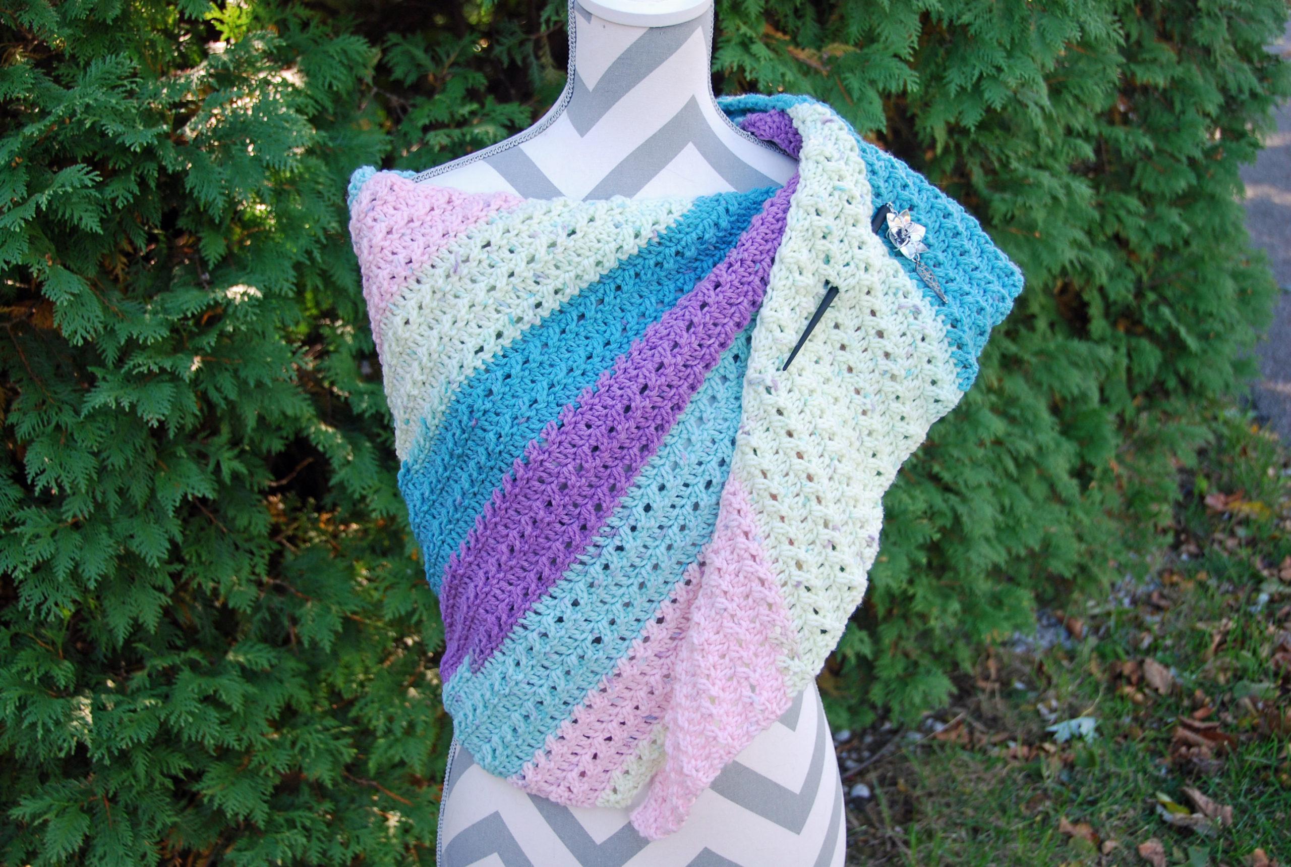 Crochet Asymmetrical Scarf by Jeanne Steinhilber