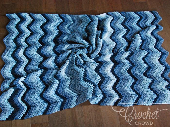 Crochet B&B Beans and Bobbles Chevron Afghan by Jeanne Steinhilber