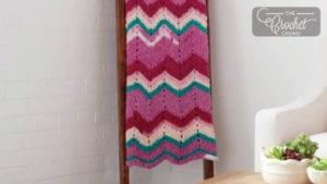 Crochet Breeze Chevron Blanket