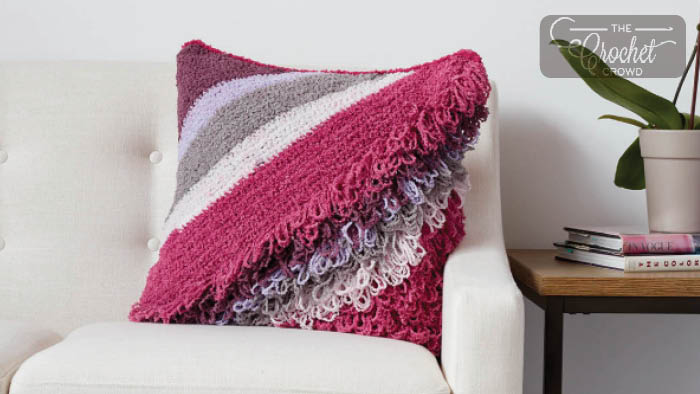 Crochet Breezy Loop Pillow Pattern