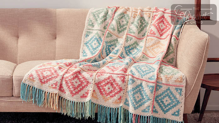 Crochet Diamond Blocks Blanket Pattern + Intro
