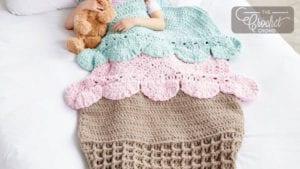 Crochet Ice Cream Snuggle Sack