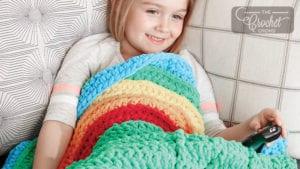 Crochet Over the Rainbow Snuggle Sack