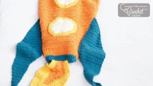 Crochet Rocket Ship Snuggle Sack