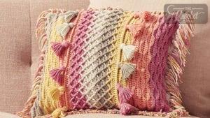 Crochet Tasseled Pillow