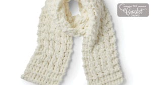 EZ Cable Knit Scarf